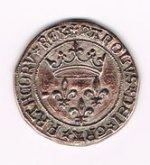 )  PENNING  COLLECTION - BP - CHARLES VII  GROS DE ROI 1447 - Elongated Coins