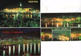 3 CP Pozdrav Iz Makarske - Rovinj - Mali Losing - Toutes Vues De Nuit     (99512) - Yugoslavia