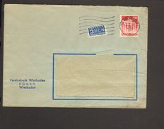 Bizone Bauten 20 Pfg.weit Gez.auf Fernbrief Mit Notopfer Aus Wiesbaden V.1949 - Bizone