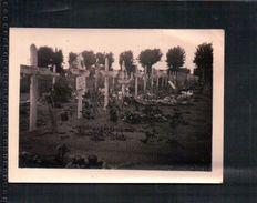 ANCIENNE PHOTO MILITAIRE Cimetière Tombes De Soldat FRANÇAIS Morts En 1940 ( WW 2) - Documents