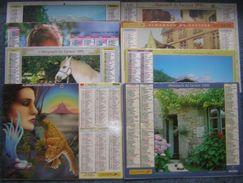 Calendriers Almanach Des Facteurs La Poste GF Grand Format Années 90 Lot De 8 Différents De 1991 à 2000 - Calendrier - Calendriers