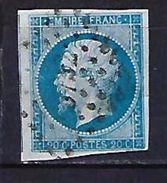 """FR YT 14A  """" Napoléon III Type I 20c. Bleu """" 1854 PC 3732 ORAN - 1853-1860 Napoleon III"""