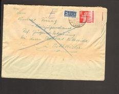 Bizone Bauten 20 Pfg.weit Gez.auf Fernbrief M.Notopfer Geschnitten Aus Meldorf (Holstein) V.1949 Brief Doppelt Verwendet - Bizone
