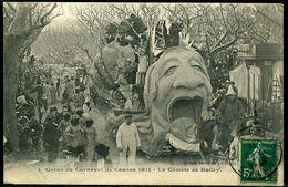 """Cpa  Cannes  Carnaval De 1911  """"comète De Halley"""",   Beau Plan - Cannes"""