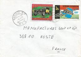 Centrafrique RCA CAR 1982 Bangui Car Bugatti Anti-apartheid Zimbabwe Independence Cover - Centraal-Afrikaanse Republiek