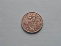 1950 - Half Crown - KM 879 ( Details Zie Foto´s ) ! - 1902-1971 : Monete Post-Vittoriane