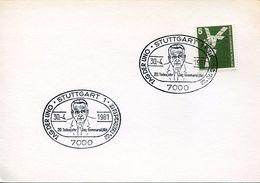 25003 GERMANY, Special Postmark 1981 Stuttgart,  UNO Day,  20 Year Death Dag Hammarskjold - Dag Hammarskjöld