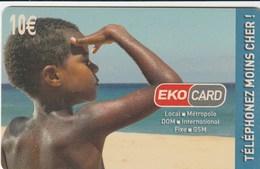 Reunion - EkoCard - XTS Telecom - Child Looking At Sea - Reunion