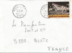 Centrafrique RCA CAR 1982 Bangui Space Apollo 15 Moonlander Jeep Cover - Centraal-Afrikaanse Republiek