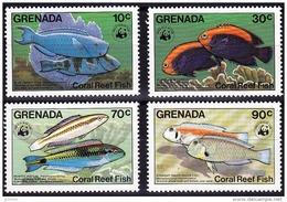 GRENADA WWF, POISSONS, Faune Marine , Yvert 1147/50 ** Neuf Sans Charniere. MNH - W.W.F.