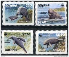 GUYANA WWF, Mammiferes Marins ,Yvert 2877/80 ** Neuf Sans Charniere. MNH - W.W.F.