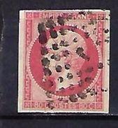 """FR YT 17B """" Napoléon III 80c. Rose """" Bureaux De Paris J - 1853-1860 Napoleon III"""
