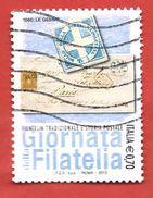 ITALIA REPUBBLICA USATO - 2013 - Giornata Della Filatelia - Filatelia Tradizionale E Storia Postale - € 0,70 - S. 3 - 6. 1946-.. Republic