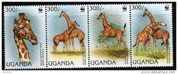 OUGANDA WWF, Girafes. Yvert  1458/61** Neuf Sans Charniere. MNH. - W.W.F.