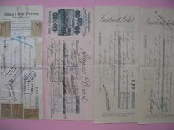 Lot De Document   Dont Certains Avec Timbres Fiscaux   à Voir - Cambiali