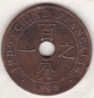 Indochine Française. 1 Cent 1898 A. Bronze - Colonies