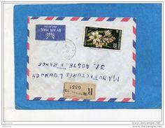 Marcophilie*-lettre REC- Archipel DesComores  Pour Françe -cad Moroni - 1970 Stamp N°A27-Fleur Polianthes - Comores (1950-1975)