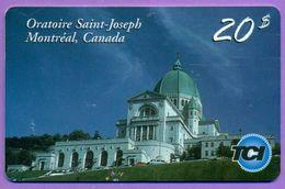 """Télécarte Canada °° 20$   02-2002   """" Oratoire St Joseph à Montréal """"   T  B  E - Canada"""