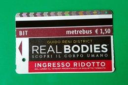 REAL BODIES BIGLIETTO BIT TICKET MOSTRA GUIDO RENI ROMA - Europa