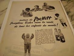 ANCIENNE PUBLICITE JOSEPHINE BAKER  SODA  LIMONADE PSCHITT 1959 - Affiches