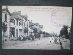Migennes Laroche ; Avenue De La Mairie  , Bal Luxembourg ; Tres Beau Cachet Militaire Commission Militaire - Migennes