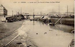 ROUEN 31 JANVIER 1910 LA CRUE DE LA SEINE LE QUAI D ELBEUF - Rouen
