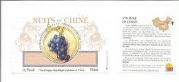 """Etiquette De VIN DE CHINE """" Nuits De Chine """" ( Dragons ) - Draghi"""