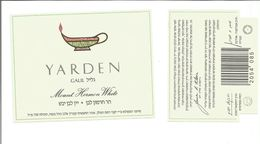 "Etiquette De VIN D'ISRAEL "" YARDEN - GALIL - Mount Hermon White "" - Witte Wijn"