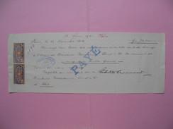 Document   Avec Timbres Fiscaux   Paravicini Christ & Cie Basel Bâle, Année 1920   à Voir - Cambiali