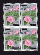 ROSA ODORATA N: 598 B DOUBLE SURCHARGE EN BLOC DE 04 - Algérie (1962-...)