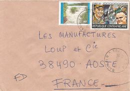 Centrafrique RCA CAR 1985 Bangui Space Soyouz Kotto Waterfall Cover - Centraal-Afrikaanse Republiek