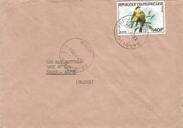 Centrafrique RCA CAR 1984 Bangui Kaya Finch Unperforated Non-dentele Cover - Centraal-Afrikaanse Republiek
