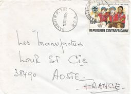 Centrafrique RCA CAR 1985 Bangui Scouting Scoutisme Unperforated Non-dentele Cover - Centraal-Afrikaanse Republiek