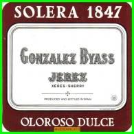 SOLERA 1847- GONZALEZ BYASS  JEREZ - Etiquetas