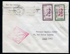 Maroc - Enveloppe 1 Er Vol Par Caravelle Casablanca / Paris En 1960 - Réf 253 - Maroc (1956-...)