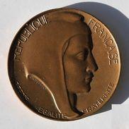 Médaille Bronze MARIANNE REPUBLIQUE FRANCAISE SIGNE J. COEFFIN  Monnaie De Paris - Monnaie De Paris