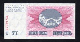 Banconota Bosnia Erzegovina - 50 Pedeset Dinara (FDS, UNCIRCULATED) - Bosnia Erzegovina