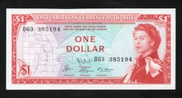 Banconota East Caribbean 1 Dollaro 1965 -  (FDS - UNCIRCULATED) - Caraibi Orientale