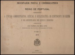 PORTUGAL, Diccionario Postal E Chorographico Do Reino De Portugal 1891-94, By Silva Lopes - Old Books