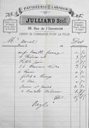 Facture De PATISSERIE LARCHER JULLIARD à Paris à Mr AURIOL - Datée 188? - BE - France