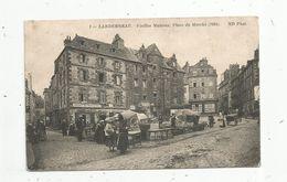 Cp , Commerce , Marché , 29 , LANDERNEAU , Vieilles Maisons , Place Du Marché , Voyagée 1915 ,F.M. - Marchés