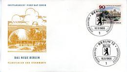 """Westberlin Schmuck-FDC Mi.263 """"Das Neue Berlin - Planetarium Und Wilhelm-Förster-Sternwarte"""" ESSt 16.9.66 BERLIN 12 - Berlin (West)"""