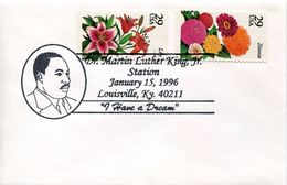 25043, U.s.a. Special Postmark 1996,  Martin Luther King Jr. - Martin Luther King