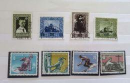 ZLIECHo284+ - LIECHTENSTEIN - 1954/56 - 2 Séries Complètes Oblitérées + 1 Timbre Oblitéré - R A R E - Côte > 58.00 EUROS - Liechtenstein
