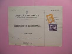 Document Avec Timbres Fiscaux  à Voir - Italie