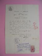 Arcivio Notarile  1927  Stato Civile Document état Civil Avec Timbres Fiscaux  à Voir - Italie