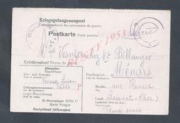 MILITARIA Corp EN FRANCHISE MILITAIRE SOLDAT VESNIER LUCIEN À GEFANGENENNUMMER DE 39/45  STALAG  Md VESNIER À MÉNARS : - Guerre De 1939-45