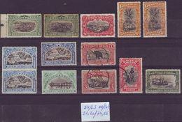 CONGO BELGE - 54 / 63 ** / (o) (LOT) - Cotes ** 21,20 €, (o) 74,25 € - Scans Recto / Verso (B 60) - Congo Belge