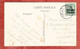 Landespost In Belgien: AK Hal, Pont Du Canal, EF Germania, Nach Loewen 1915 (41266) - Deutschland