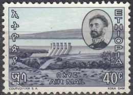 ETHIOPIA 1965  40c. - Koka Dam  - 40c Multicoloured  FU - Etiopia